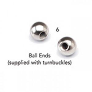 Stainless Steel Ball Ends  3/16″ x 2 1/8″ - Meteek Supply