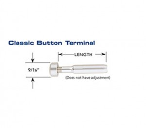 Classic Button Terminal 3/16″ x 2  1/8″ - Meteek Supply