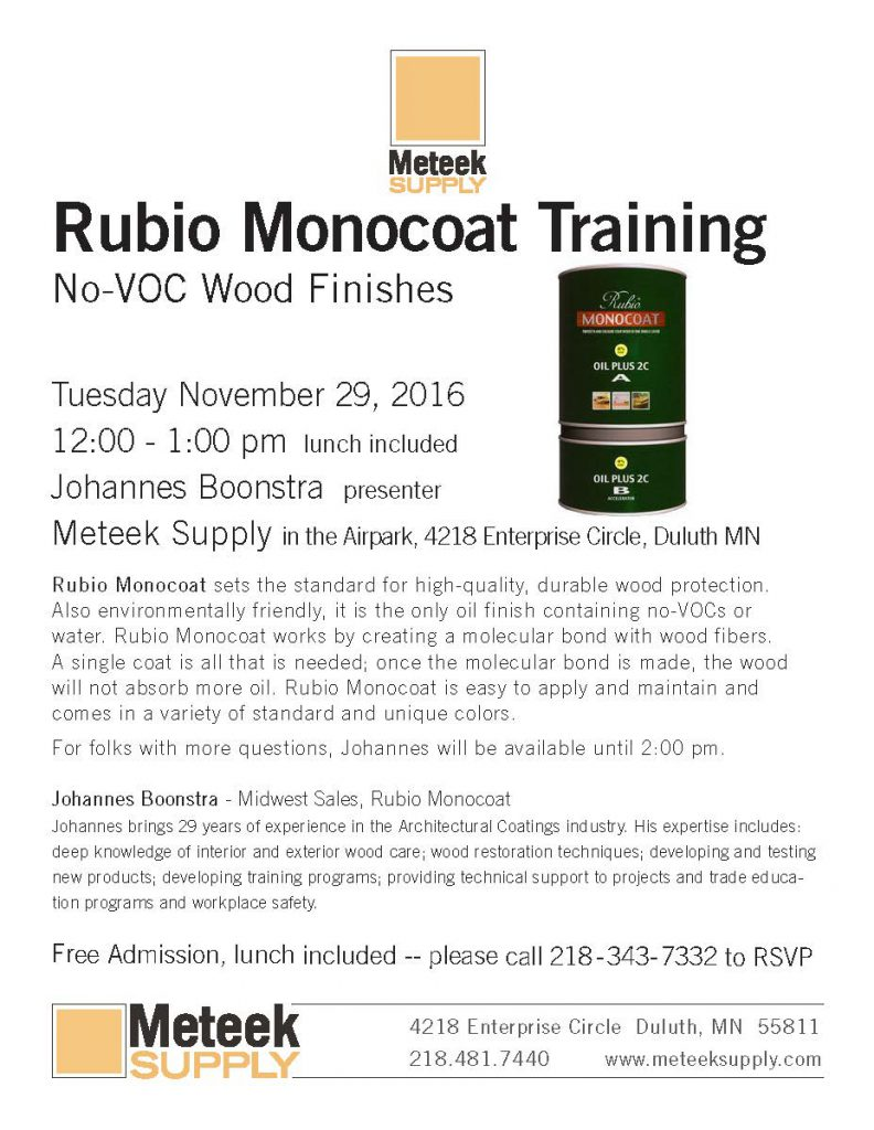Rubio Monocoat Training Session at Meteek Supply - 1